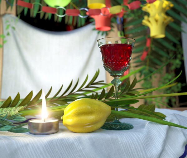 The myrtle, palm, willow and citron of Sukkot.