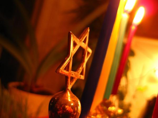 Hanukkah candles-Star of David-Magen David