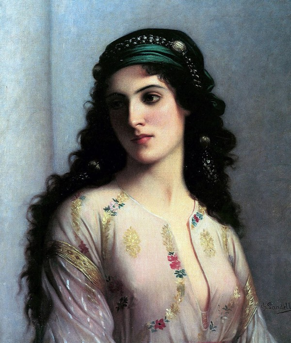 Jewish Girl in Tangiers, by Charles Landelle