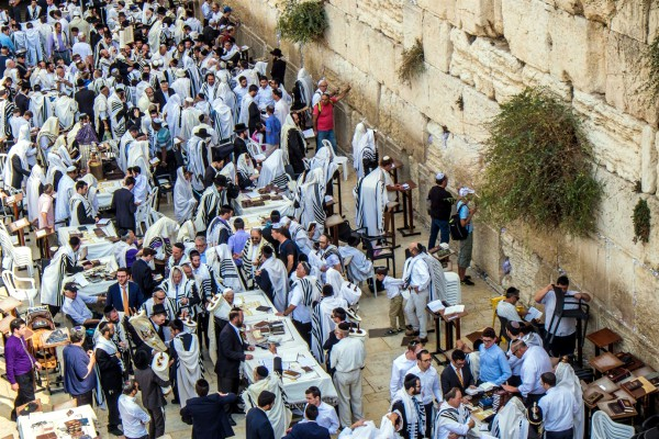 Jerusalem-prayer-men's section-Kotel-Wailing Wall