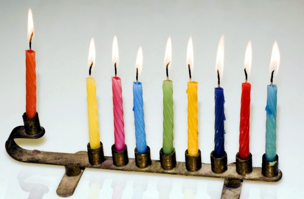 1358-Chanukah menorah-eight lights