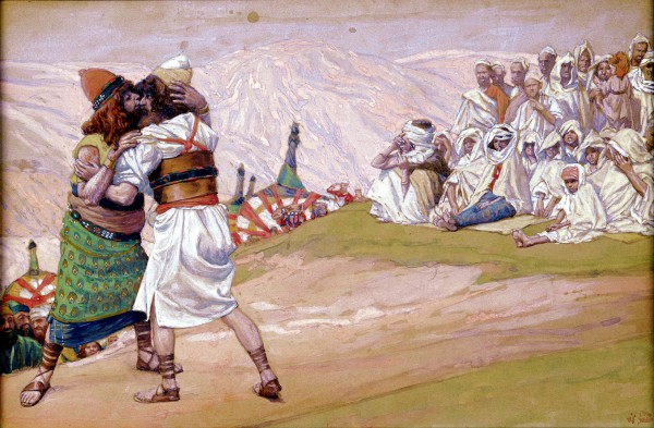 The Meeting of Esau and Jacob, by James Tissot