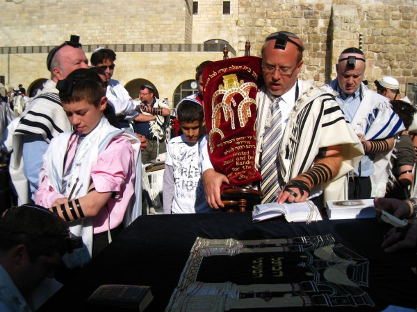 Jewish prayer-Kotel-Torah