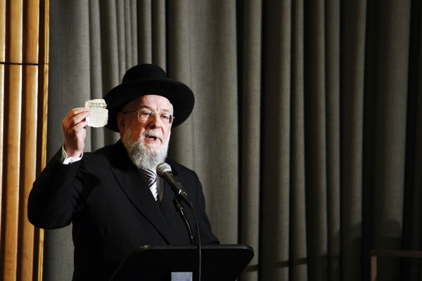Yisrael Meir Lau, Rabbi and Chairman of the Yad Vashem Council, International Holocaust Remembrance Day