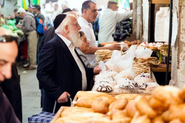 Israel, senior, fruit, bread