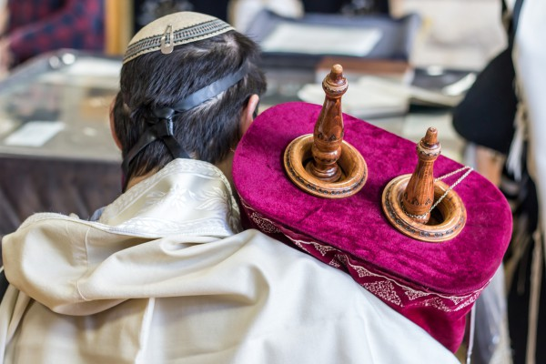 tefillin_kippah_tallit_Torah scroll_synagogue _morning prayer