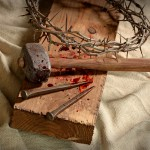 nails, cross, tree, blood, Resurrection Sunday, Jesus, Yeshua