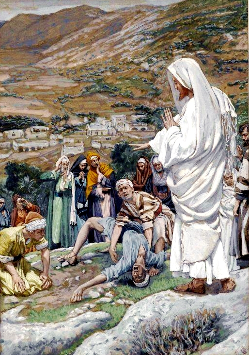 The Possessed Boy at the Foot of Mount Tabor, by James Tissot