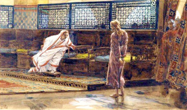 Yeshua Before Pilate, First Interview, by James Tissot
