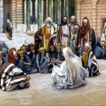 Yeshua Speaks Near the Treasury, by James Tissot