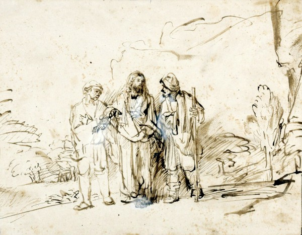 Christ with Disciples on the Road to Emmaus (c. 1655), by Rembrandt