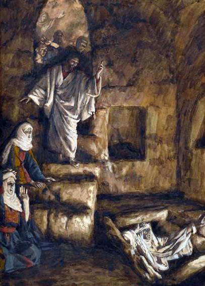 Resurrection of Lazarus, by James Tissot