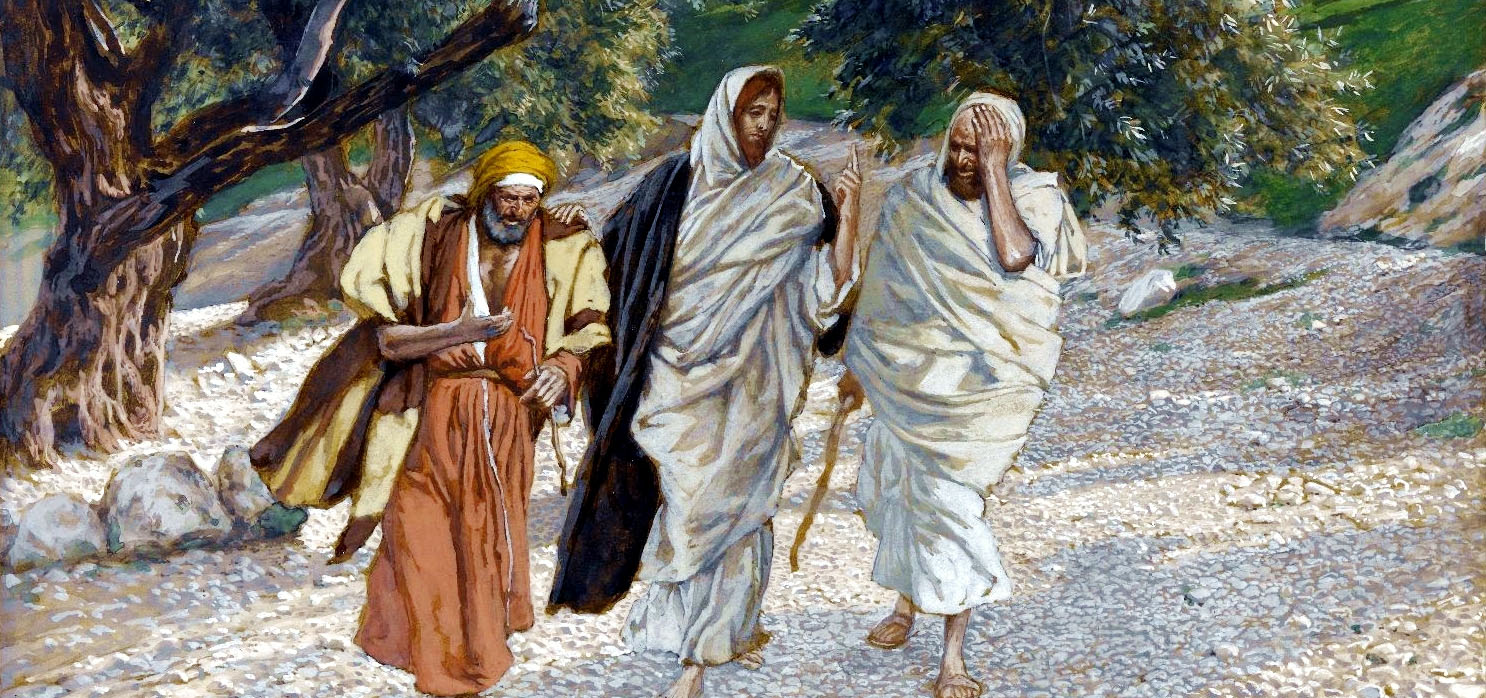 Yeshua explains the Messianic prophecies about Himself to disciples on the Road to Emmaus  (Painting by James Tissot)
