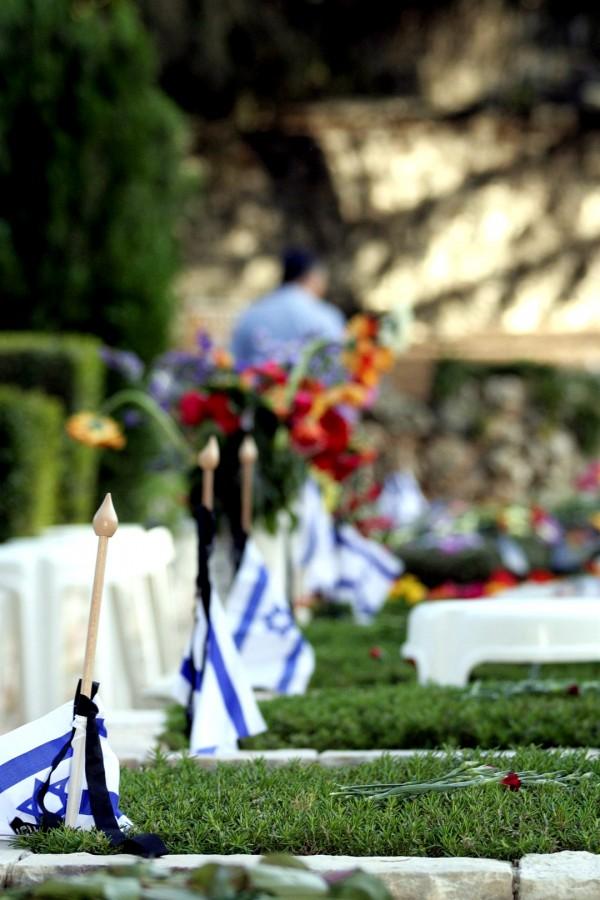 Yom HaZikaron, flags, cemetary