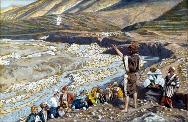 John the Baptist Sees Jesus from Afar, by James Tissot