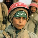 Iranian children, soldiers