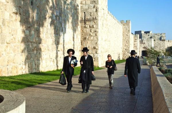 Jerusalem, Jewish, Orthodox, stroll, walk, Jaffa Gate, Wall