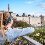 1080 Woman viewing Jerusalem