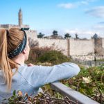 1080 Woman viewing Jerusalem