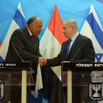 Egyptian Foreign Minister Sameh Shoukry meets with PM Benjamin Netanyahu,