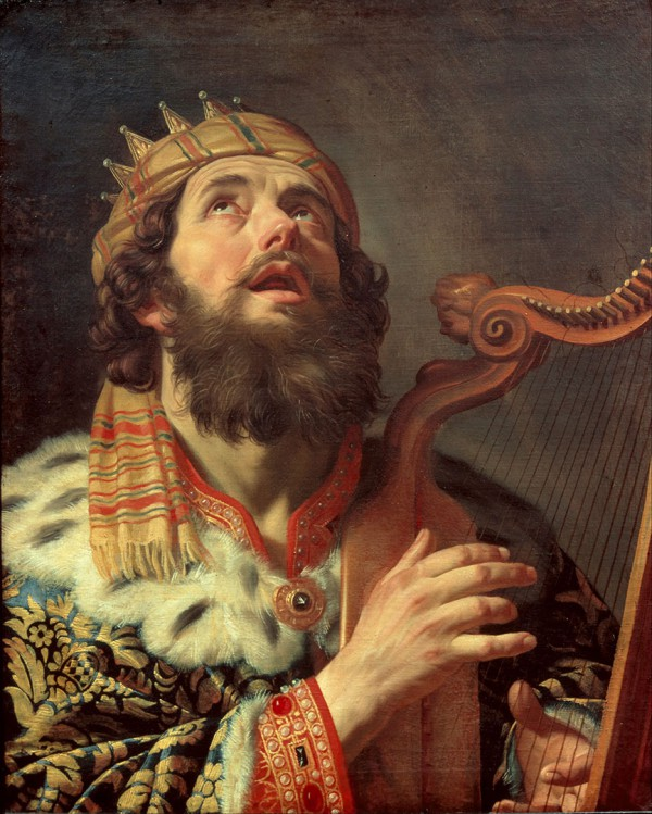 King David Playing the Harp, by Gerard van Honthorst
