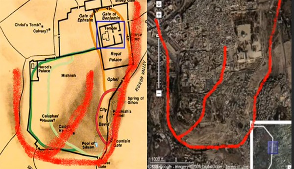 Shin, God's name, Jerusalem, three valleys
