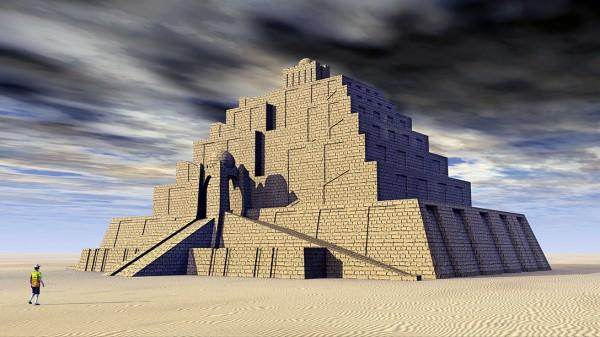 ziggurat, tower of babel, nimrod