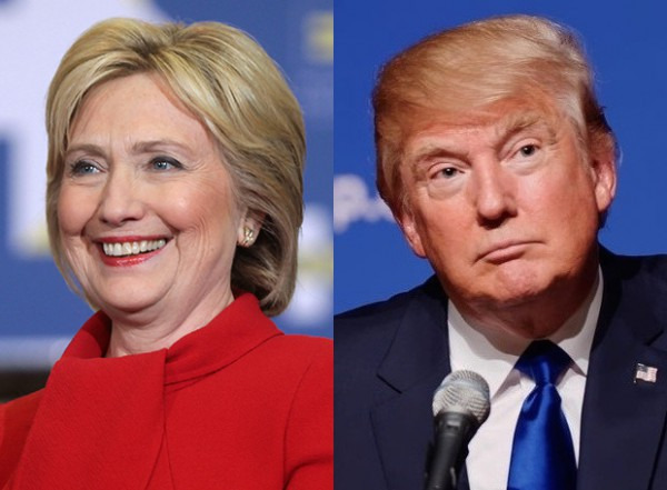 US presidential nominees, Hillary Clinton and Donald Trump