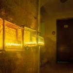 9-candle, oil lamp menorah, hanukkiah,