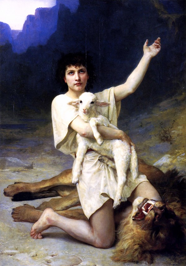 The Shepherd David, by Elizabeth Jane Gardner (1837–1922; Public Domain)