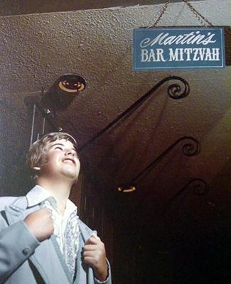 Marty at his Bar Mitzvah celebration.