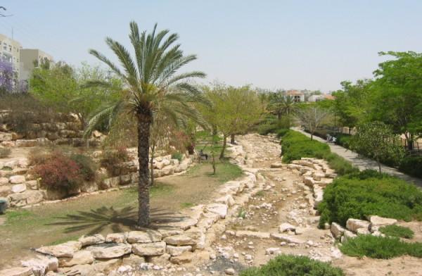 A dry riverbed in Be'er Sheva