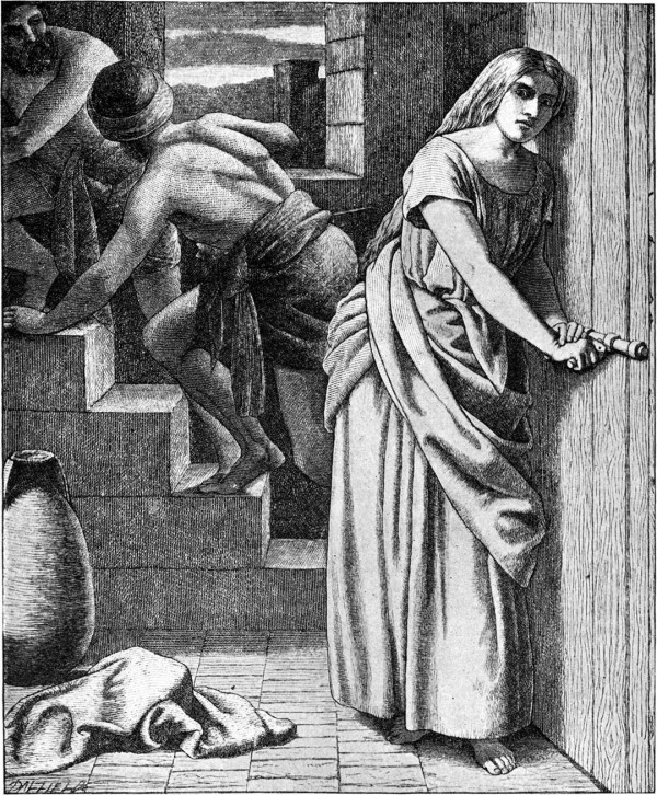 Rahab Helping the Two Spies, by Frederick Richard Pickersgill, illustrator of the 1897 Bible Pictures and What They Teach Us