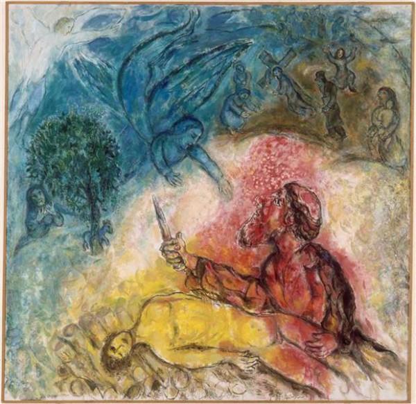 sacrifice of Isaac, binding of isaac, akedah, marc chagall