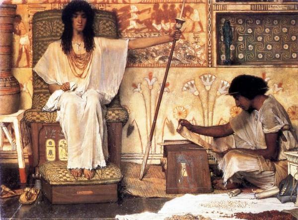 Joseph, Overseer of Pharaoh's Granaries (1874, enhanced), by Lawrence Alma-Tadema