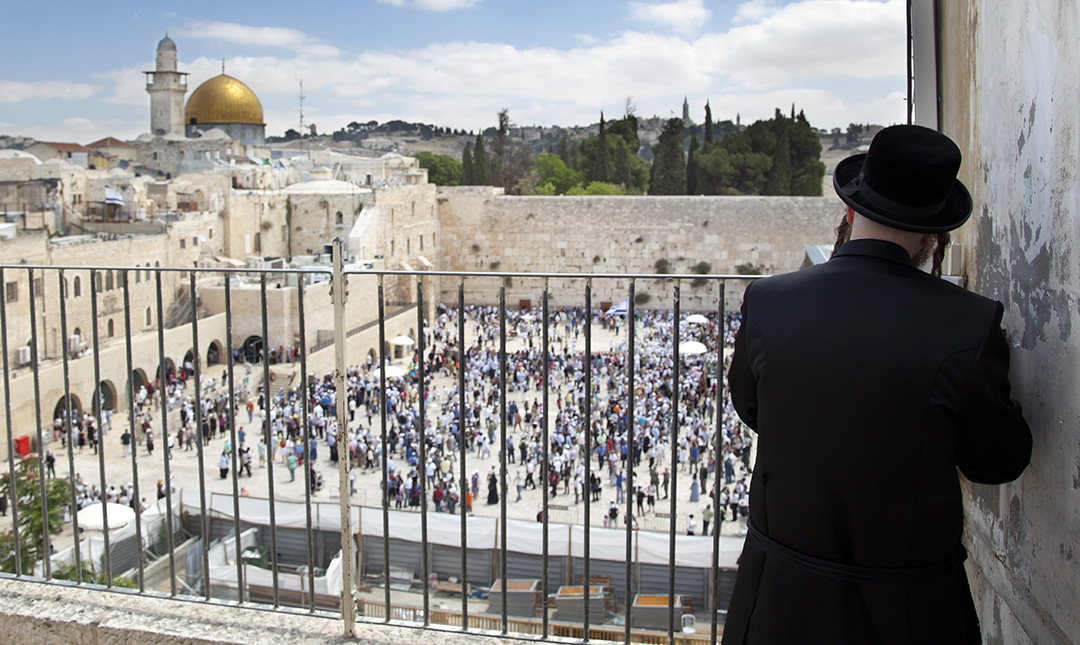 Praying Above the Western Wall