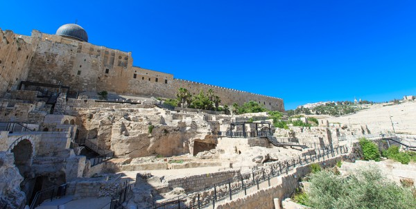 Ancient ruins next to the Temple Mount.