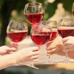 toasting, wine glasses
