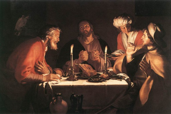 The Emmaus Disciples (1822), by Abraham Bloemart