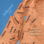 Map of Israel's early inhabitants, including the Canaanites and their descendants.